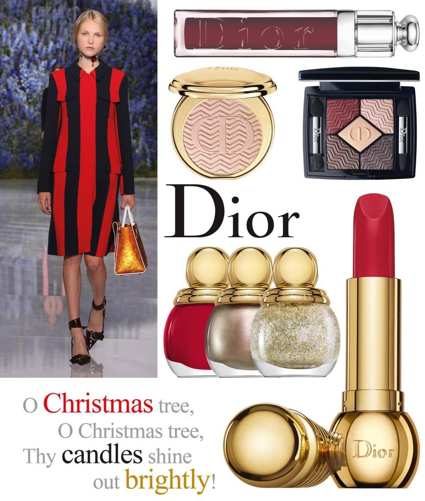 Dior- Christmas - girls -bangs- beauty